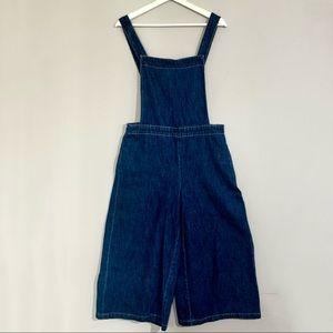 GAP 1969 culotte overalls in dark denim